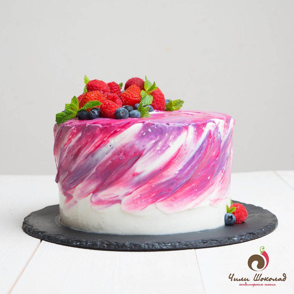 Свадебный торт с акварельной росписью. Рецепты и идеи 73